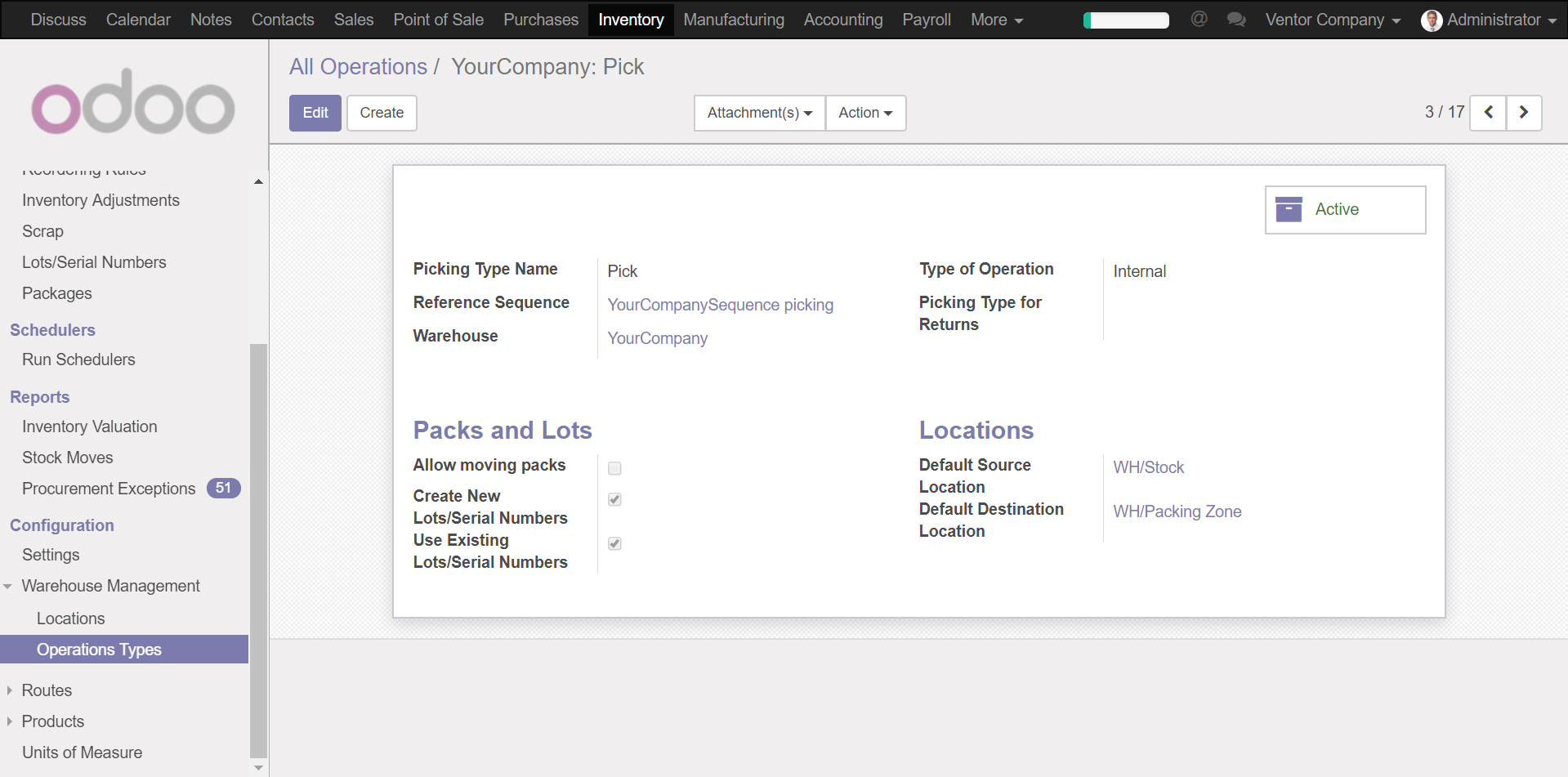 Odoo retail inventory management